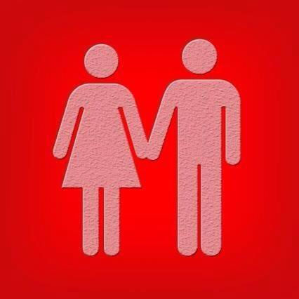 Man and Woman Silhouettes Holding Hands